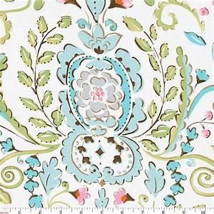 Love Bird Damask Fabric by the Yard Pink Fabric