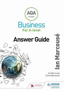 Aqa Business For A Level  Marcouse  Answer Guide