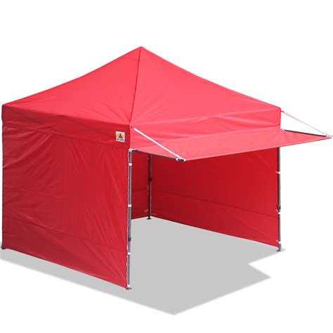 abccanopy easy pop  canopy tent instant shelter deluxe portable market canopy awning red