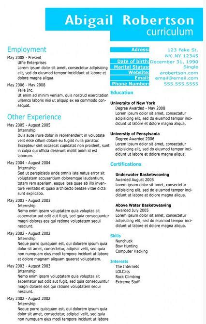 Interesting Resume Templates by 1000 Images About Creative Resume Templates On