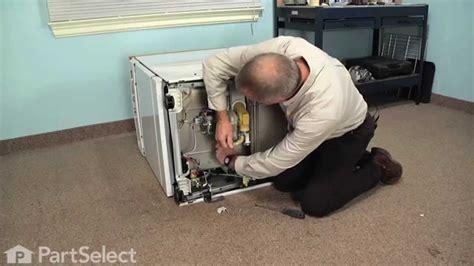 dishwasher repair replacing drain valve shaft seal push  nut ge part wdx