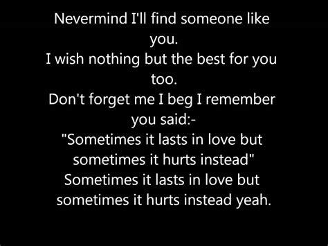 Someone Like You! Lyrics.