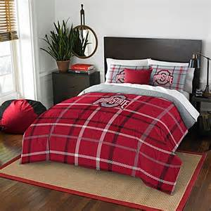 buy ohio state university full embroidered comforter set from bed bath beyond
