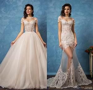 Vintage Amelia Sposa 2017 Sexy Wedding Dresses Detachable ...