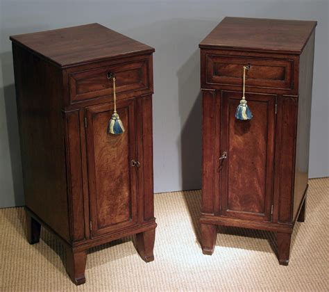 Bedside Cupboard by Antique Mahogany Bedside Cabinets Pair Bedside Cupboards