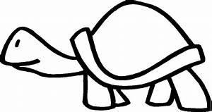 Einfache, Schildkroete, 2, Ausmalbild, U0026, Malvorlage, Tiere