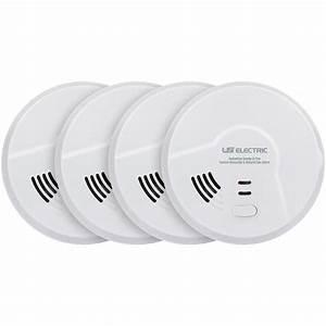 Bundle Of 4 Usi Hardwired Smart Alarm With Smoke  Co And