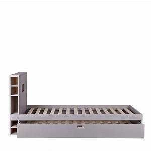 Cadre Lit Avec Rangement : cadre de lit avec tiroir en bois 90 x 200 sam ~ Teatrodelosmanantiales.com Idées de Décoration