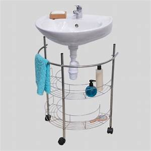 Meuble Dessous De Lavabo : meuble dessous lavabo roulette argent dessous lavabo eminza ~ Melissatoandfro.com Idées de Décoration
