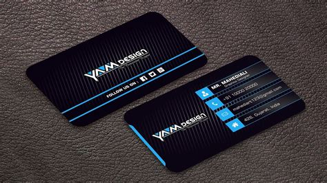 latest business card design   cdr file youtube