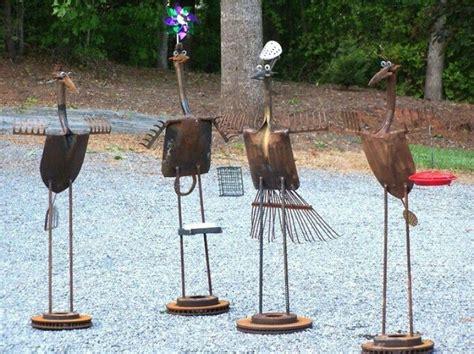 Metal Yard Art Youtube Inside Recycled Designs