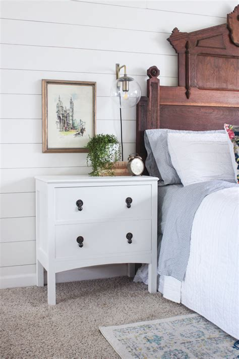 Farmhouse Nightstand by Farmhouse Stand With Free Plans Shades Of Blue