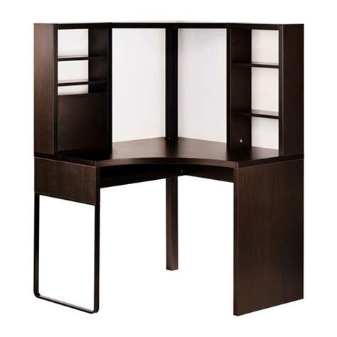 micke bureau ikea micke corner workstation black brown ikea