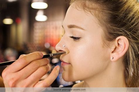 apply makeup   nose piercing