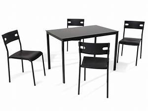 Ensemble Table Et Chaise Conforama : ensemble table 4 chaises de cuisine ice coloris noir chez conforama ~ Dailycaller-alerts.com Idées de Décoration