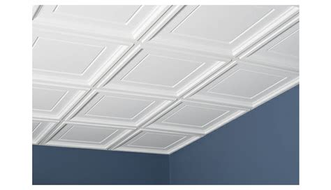Genesis Designer Ceiling Tile by Icon Coffer 2 X 2 White Box Of 12