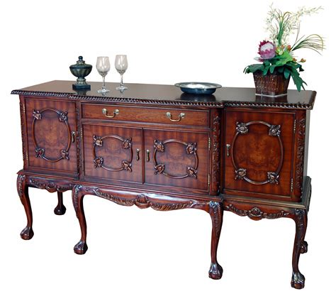 Sideboard Mahogany by Mahogany And Burl Dining Sideboard Buffet Ebay