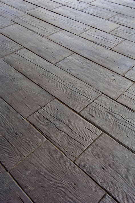 rustic wood nope  thick concrete pavers barn plank