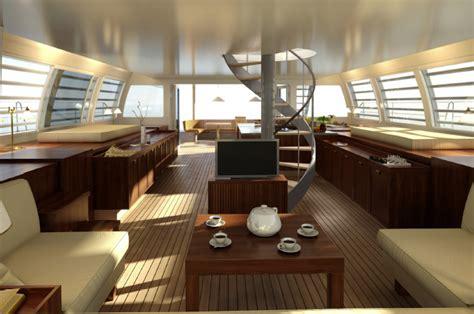 Catamaran Interior by Yacht Noah 76 Alu Marine Charterworld Luxury Superyacht