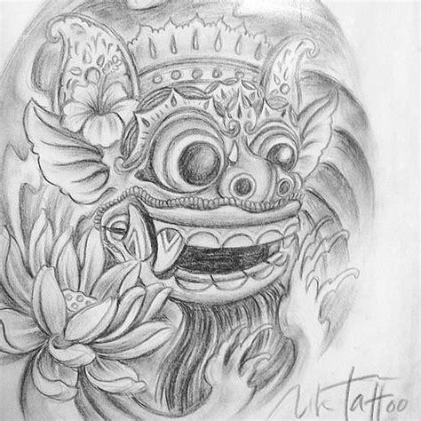 barong mask drawing balinese barong pinterest