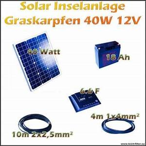 Solar Inselanlage Berechnen : 40w 12v solar inselanlage graskarpfen f r garten und ~ Themetempest.com Abrechnung