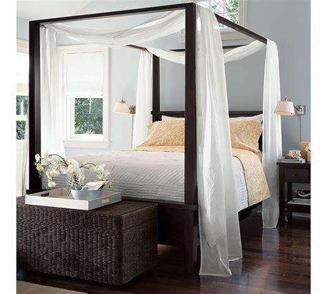how to drape a canopy bed farmhouse canopy bed from pottery barn quot canopy quot from two