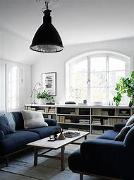 Navy Blue Living Rooms with Couches