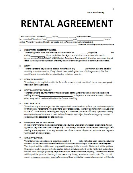 lease template rental agreement template 25 templates to write agreement