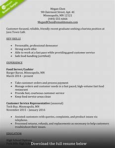 barista resume example examples of resumes With barista resume template