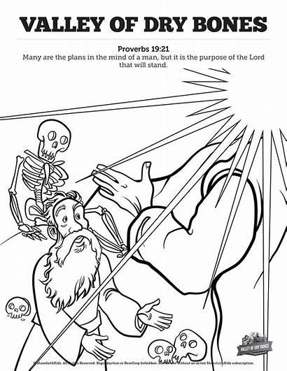 Ezekiel Bones Dry Coloring Valley Bible 37