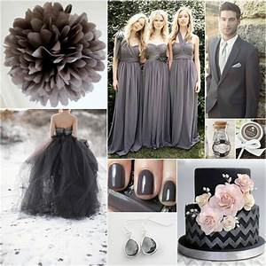 Charcoal wedding bridal party pinterest for Charcoal dresses for weddings