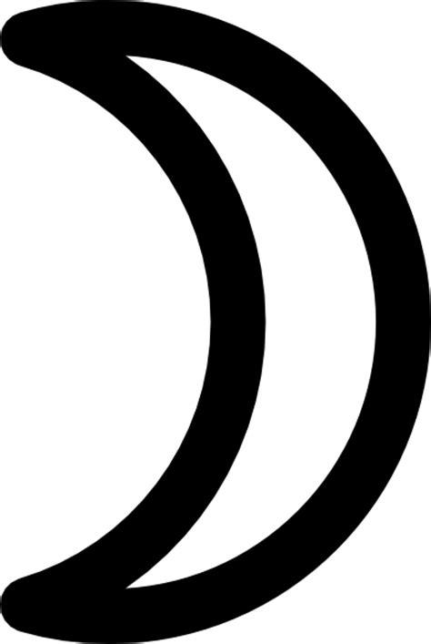 moon symbol crescent clip art  clkercom vector clip