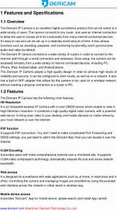 Dericam Technology S1 Ip Camera User Manual