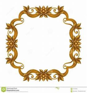 Vintage Gold Frame Clipart - ClipartXtras