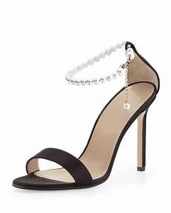Manolo blahnik Chaos Pearly Ankle-wrap Sandal | Lyst