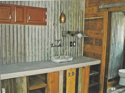 Corrugated Metal Backsplash : Love This Sink Idea And The Corrugated Tin Backsplash