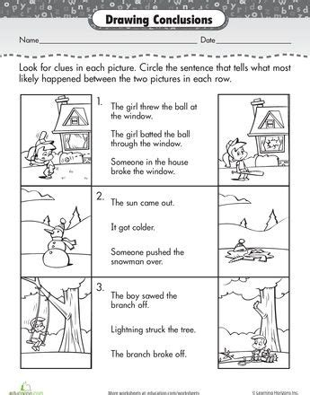 story comprehension drawing conclusions ronans study