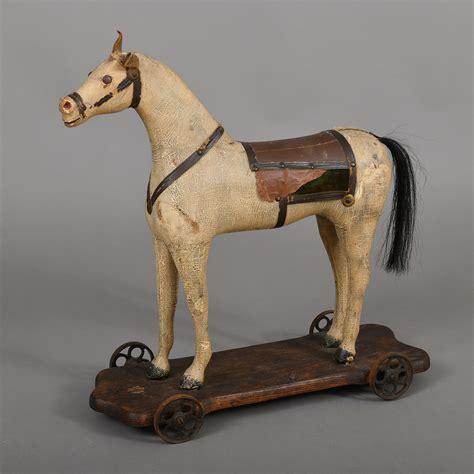 horse pully toy jeffrey tillou antiques