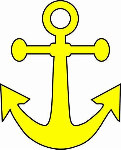 Anchor Clip Clipart Yellow Nautical Anchors Vector