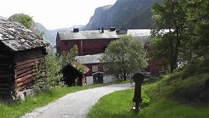 Travel Video  Old Village Stahleim Hotel And Tvinde Waterfall  Norway In Hd