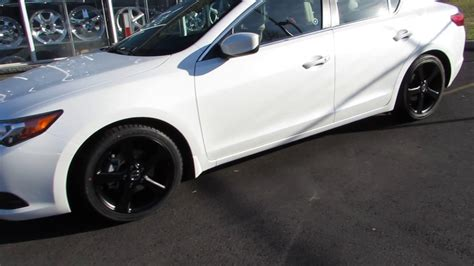 2014 acura ilx with 17 inch custom black rims tires youtube