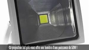 Projecteur Led Detecteur : projecteur led cob 50w tanche avec d tecteur de ~ Carolinahurricanesstore.com Idées de Décoration