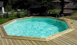 Piscine Semi Enterré Bois : piscine bois octogonale ou semi octogonale vercors piscine ~ Premium-room.com Idées de Décoration