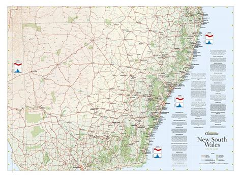 australian geographic nsw poster map magshop