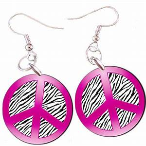Peace Sign in Hot Pink with Zebra Stripes 1 by ...