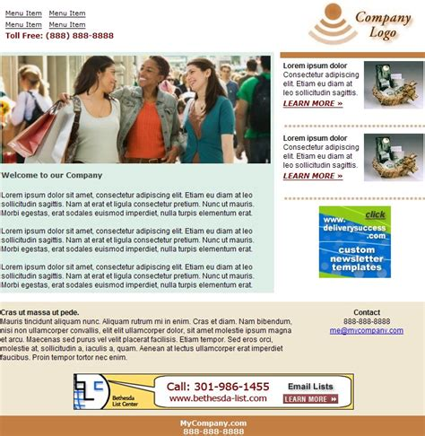 Newsletter Templates Free by Free Html Newsletter Templates Noupe