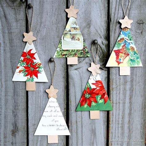 vintage christmas ornaments to make how to make christmas ornaments from vintage cards petticoat junktion