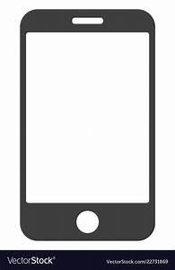 Smartphone flat icon symbol Royalty Free Vector Image
