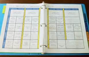 Teacher Lesson Plan Binder Template