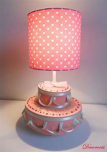 Lampe Chambre Fille : lampe de chevet fille g teau anniversaire rose enfant b b luminaire enfant b b decoroots ~ Preciouscoupons.com Idées de Décoration